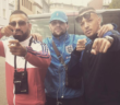 Zuna, Miami Yacine und Azet gemeinsam vor einem Van