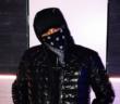AK Ausserkontrolle ganz in schwarz mit Bandana und Kappe