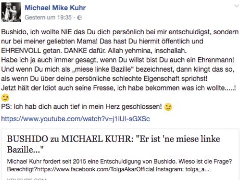 Michael Kuhr mit einem Statement zu Bushido