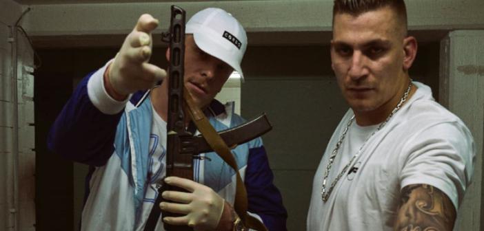 187 Strassenbande Bonez MC und Gzuz mit Maschinengewehr