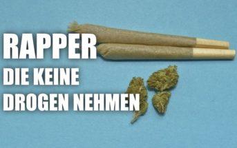 Rapper, die keine Drogen nehmen Startbild mit zwei Joints und Weed