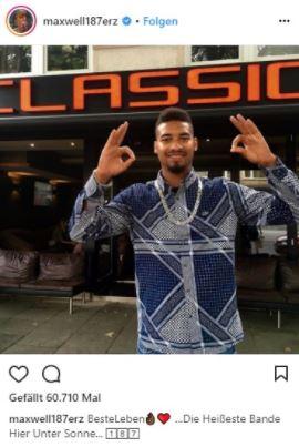 Maxwell nach seiner Freilassung nach der Razzia in seiner Wohnung auf Instagram