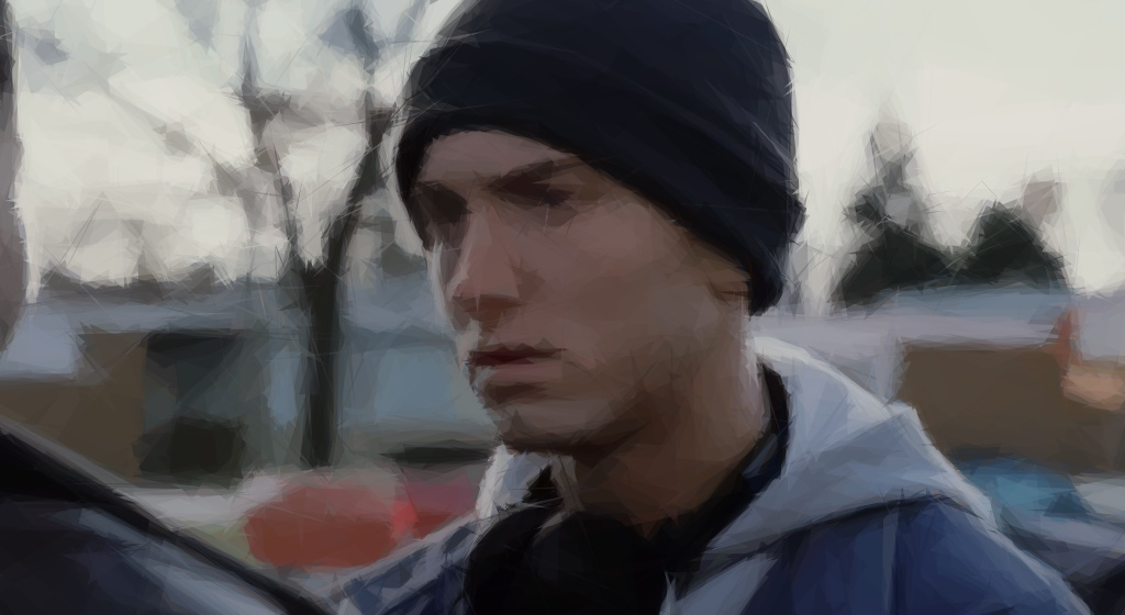 Eminem im Musikvideo zu Lose Yourself