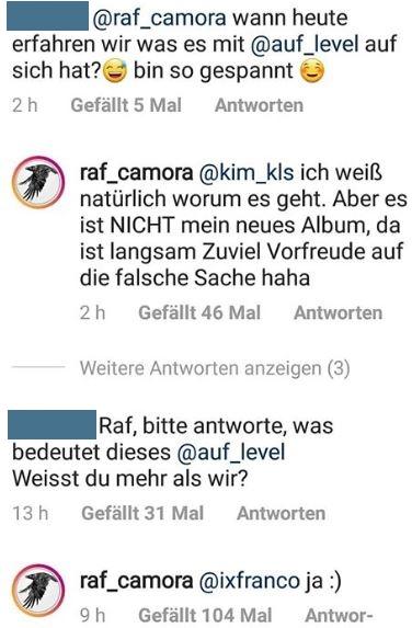 "Raf Camora ist über Projekt ""LEVEL"" informiert"