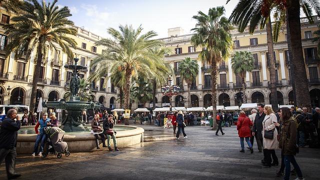Ein Bild des Straßenlebens in Barcelona