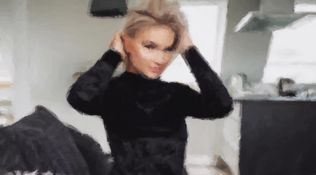 Shirin David als polygonale Zeichnung