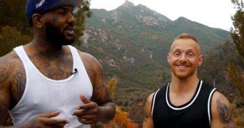 Fitness Coach Stefan Weissgerber zusammen mit US-Rapper The Game